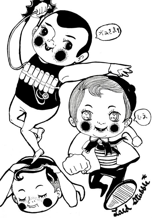 Tomodachi - illustration, caracterdesign - lordstubble | ello