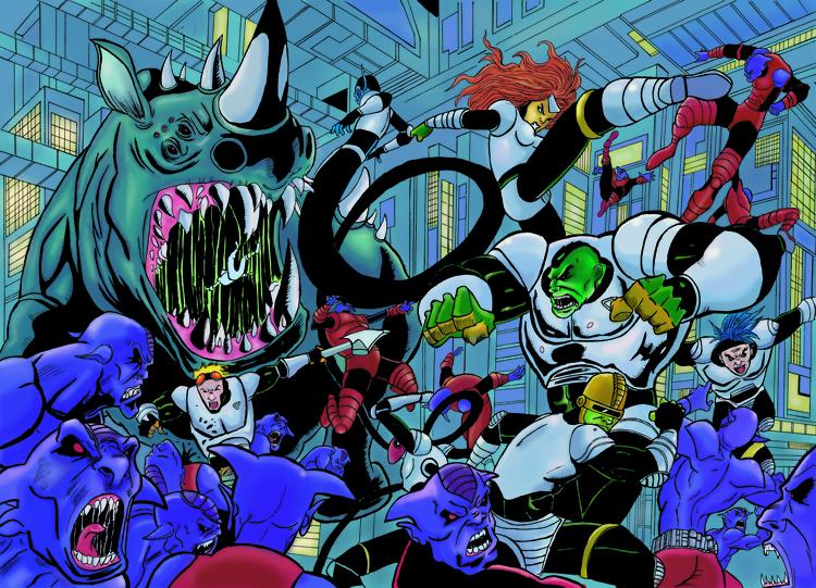 Alien Legion double spread digi - ehernand1 | ello
