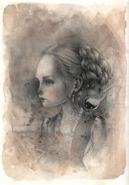 Victoria graphite watercolor pa - ania_tomicka-1104 | ello