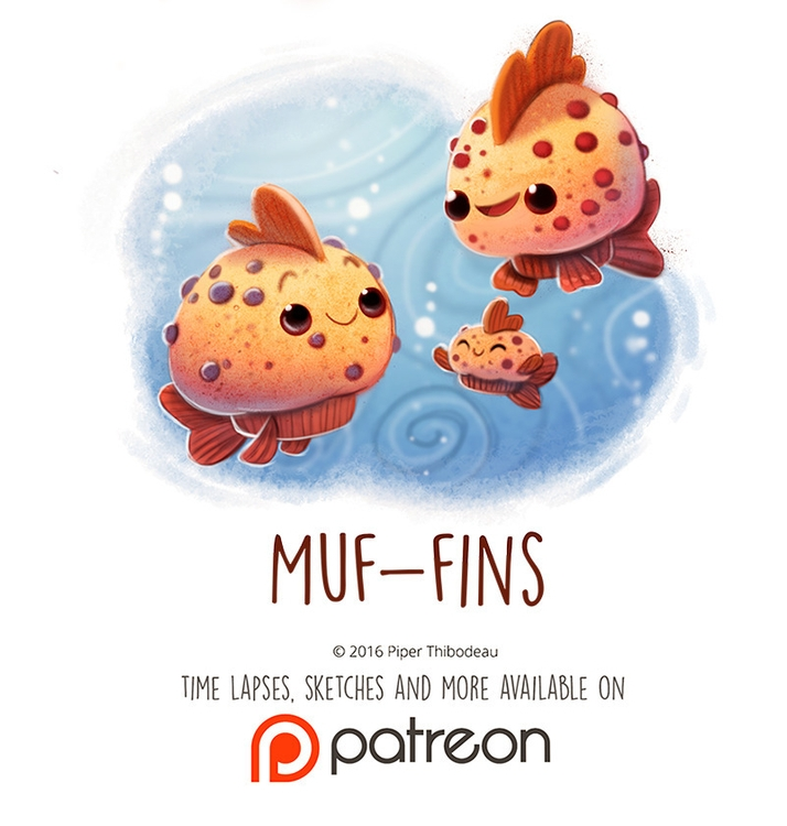 Daily Paint 1451. Muf-fins - piperthibodeau | ello