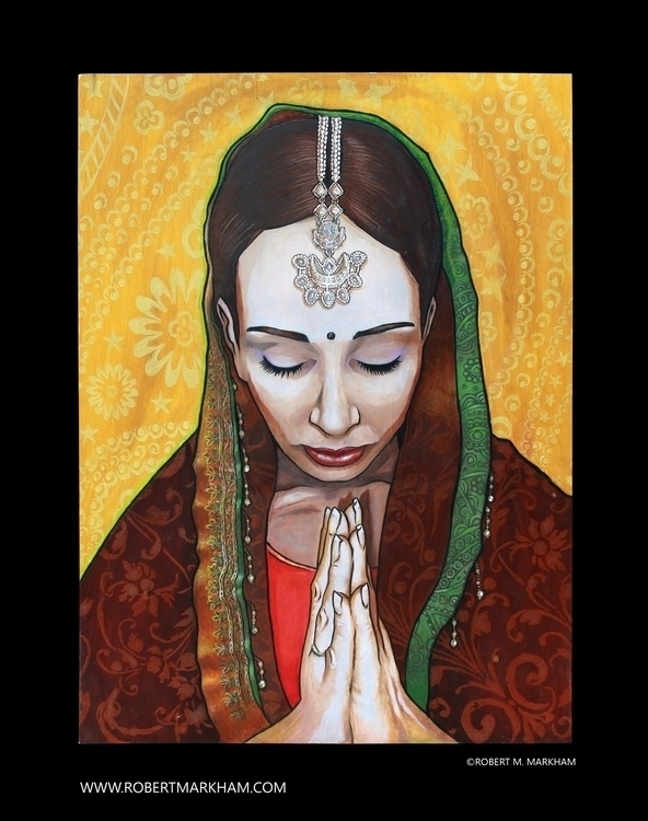 Gujarati Princess - painting, drawing - robertmarkham   ello