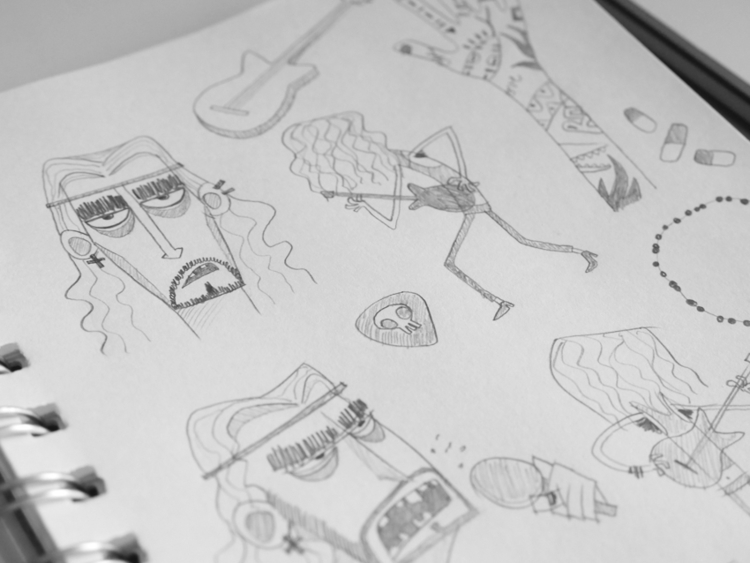Rockstar sketches 01 - rock, rockstar - federicobonifacini | ello