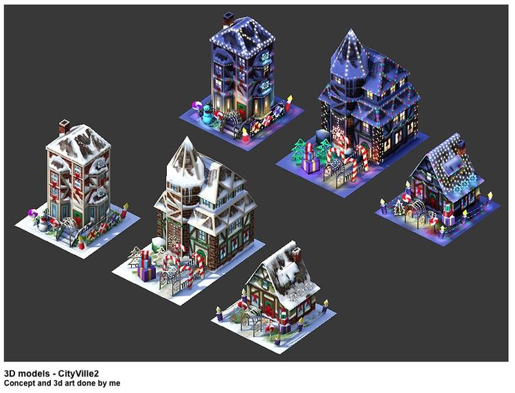 Cityville 2 - gameart, 3dart, conceptart - jasonpastrana | ello
