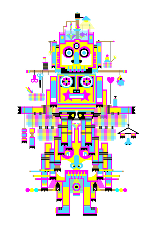 Totem12 - totem, cmyk, art, illustration - pabloshock | ello