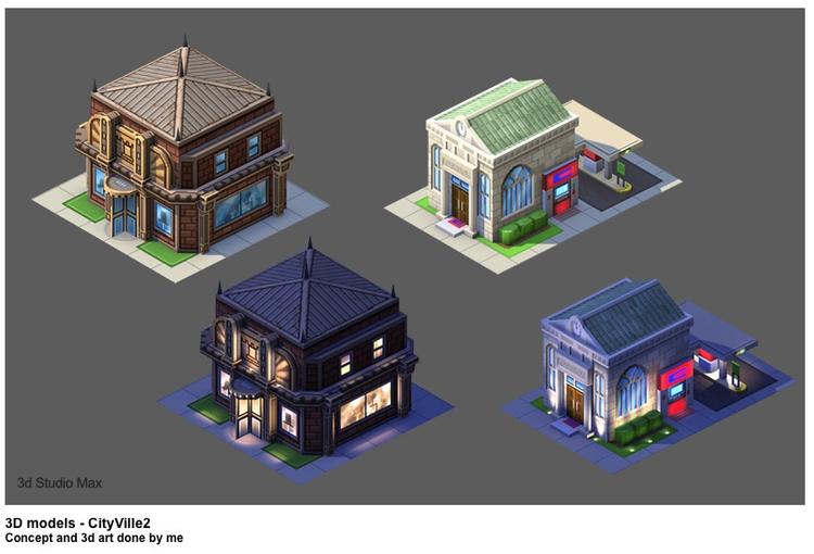 Cityville 2 - conceptart, gameart - jasonpastrana | ello