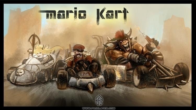 postapocalyptic mario kart - illustration - fasslayer | ello