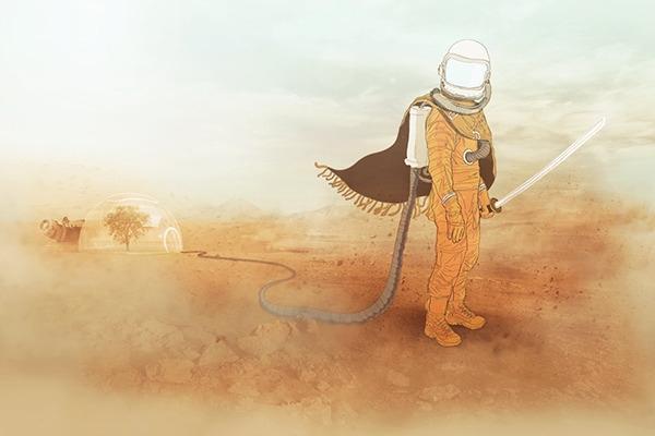 kid, astro, astronaut, sci-fi - yerk | ello