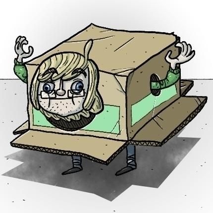 Box Hermit - icon, icons, silly - odddino   ello