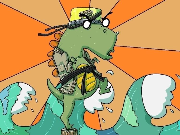 OddDino Karate - karate, dinosaur - odddino | ello
