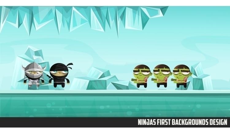 Ninjas Zombies 02 background - gameart - federicobonifacini   ello