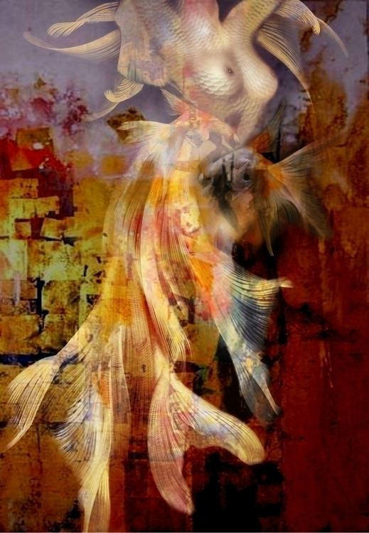 MERMAID - mermaid, body, nude, abstract - carmenvelcic | ello