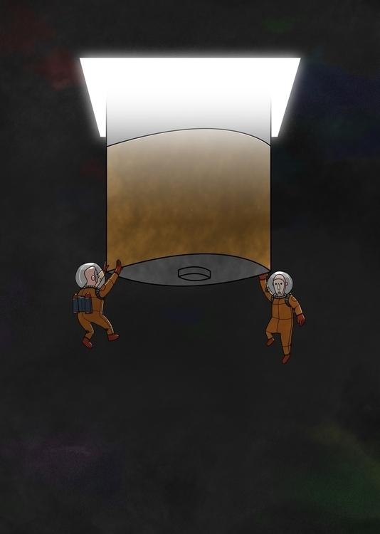 Space Battery - space, illustration - odddino | ello