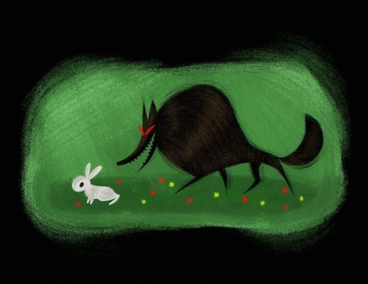 Wolf Rabbit - characterdesign, illustration - naomiromeroart | ello