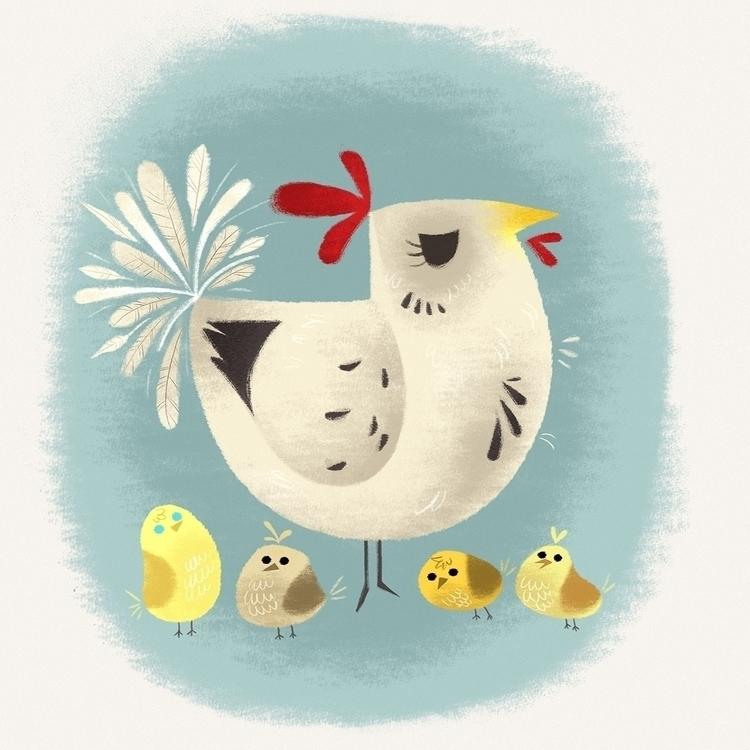 Chickens - animals, characterdesign - naomiromeroart | ello
