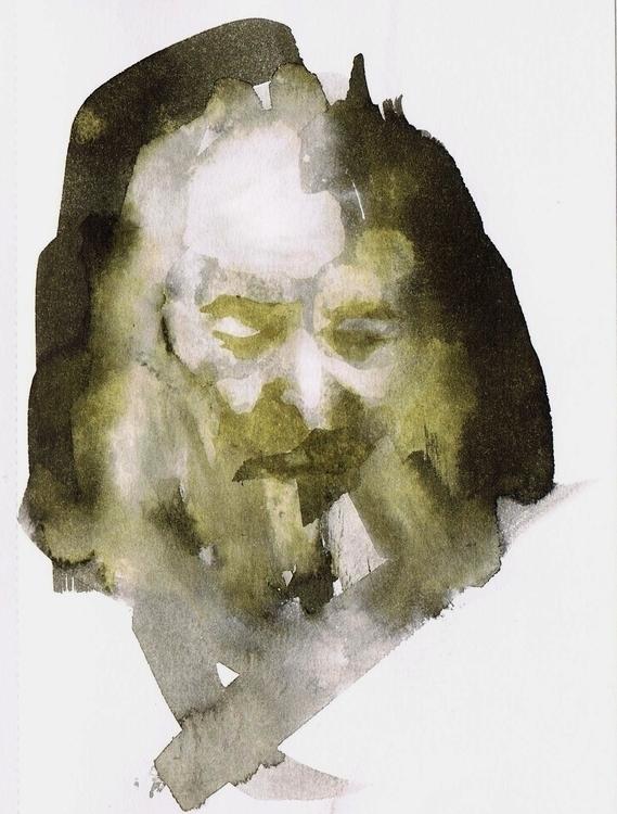 Size: 10cmX15cm, watercolour - portrait - kejto | ello