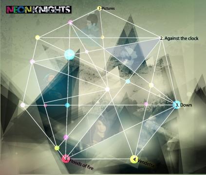 NEON KNIGHTS ALBUM ARTWORK - michaelcook-9580 | ello