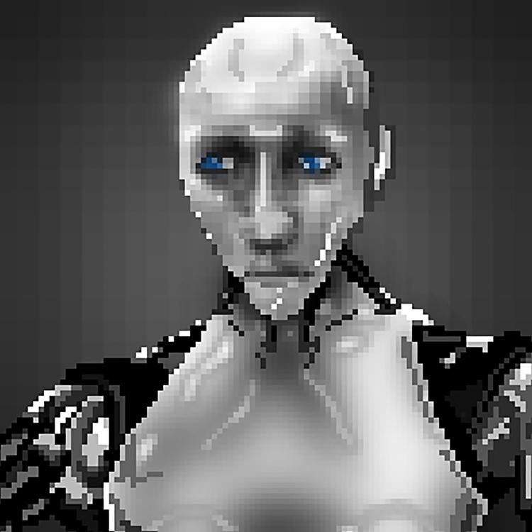 Robot: Sonny - digitalart, pixelart - theartofsichiu | ello
