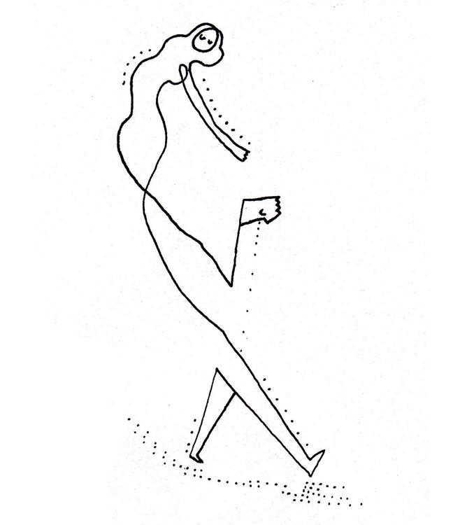 Leaving - illustration, lineart - shimaby | ello