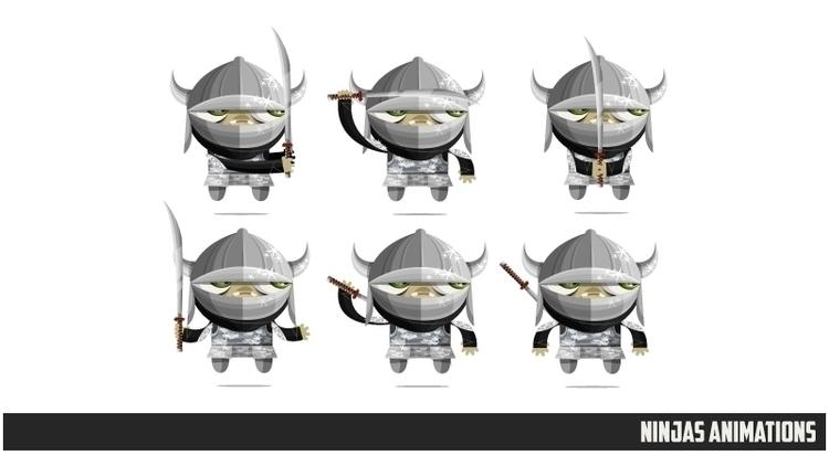 Ninjas Zombies 03 animations - animation - federicobonifacini | ello