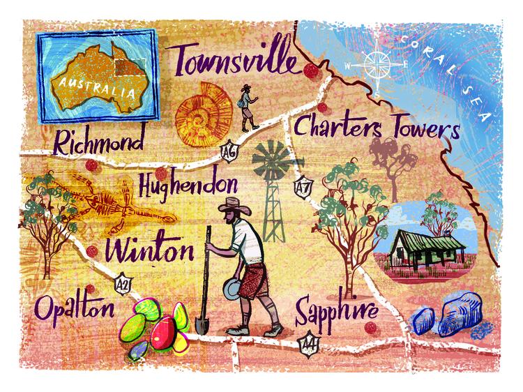 Map Queensland Australia, publi - nowen-1067 | ello