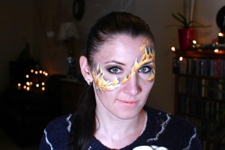 1 fire challenge - facepainting - uliankaarty | ello