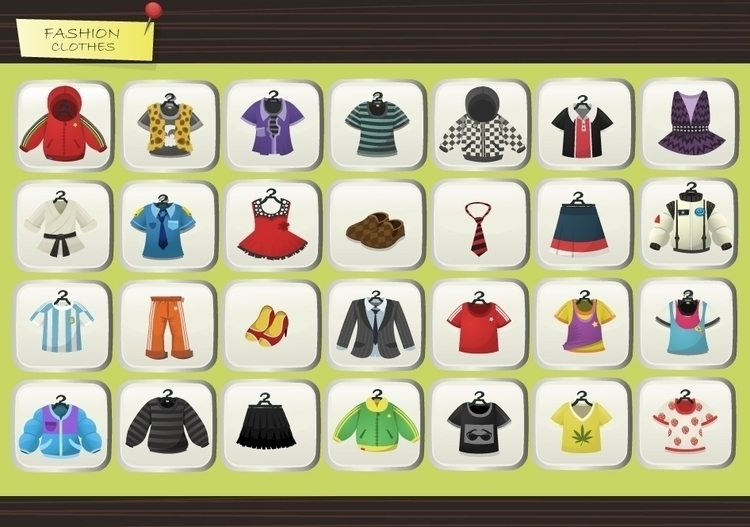 Fashion World Game - Clothes - fashionillustration - federicobonifacini | ello
