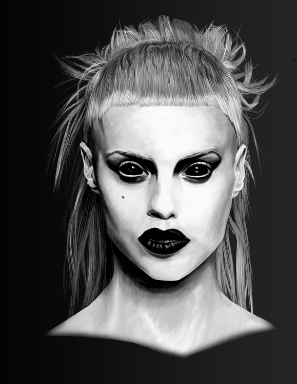 Yolandi Visser - illustration, painting - solmary1993 | ello