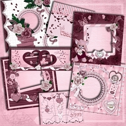 Pink Valentine Digital Scrapboo - ditzbitz | ello