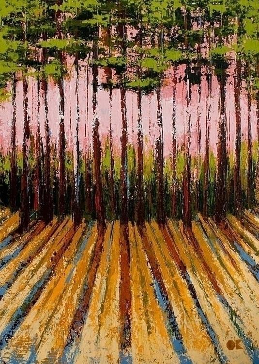 FOREST acrylic canvas, 50x70 cm - ogel | ello