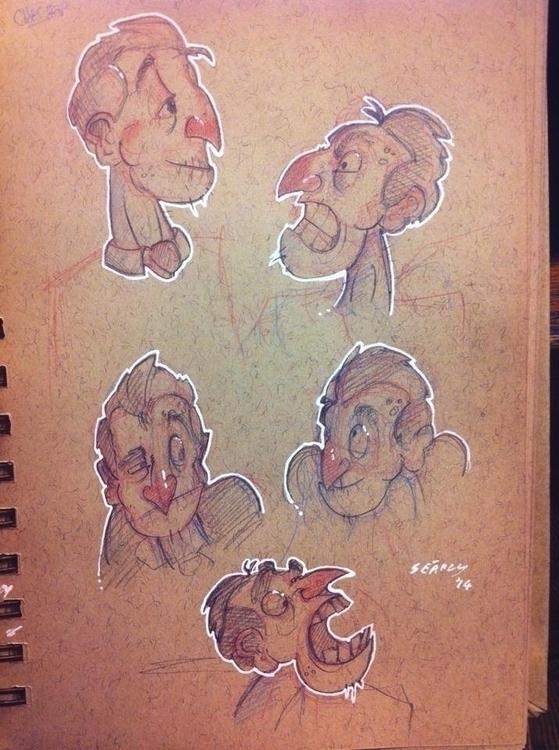 mayn - characterdesign, face, modelsheet - paperbag-3414 | ello