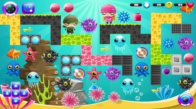 Boomberland - game backgrounds - federicobonifacini   ello