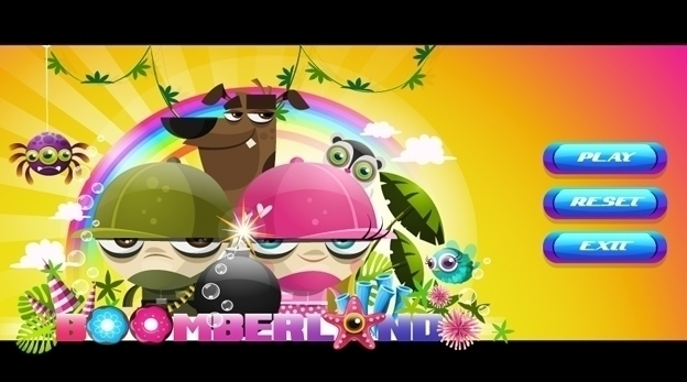 Boomberland Game Menu Screen - gameart - federicobonifacini | ello