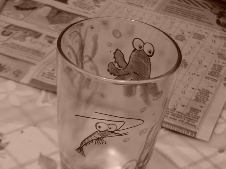 glasspainting, glass, octopus - amandaloyolla | ello