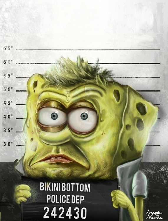 Fan art, view Spongebob - cartoon - anya-1295 | ello