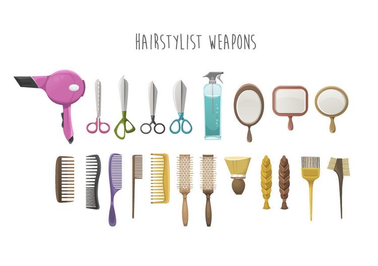 Hairdresser weapons - hairdresser - federicobonifacini   ello