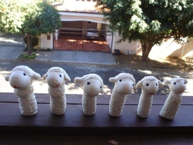 sheep, family, coldporcelain - amandaloyolla | ello