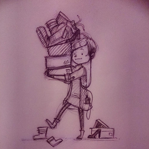 Illustration, sketch, ink, BunnyBrush - bunnybrush   ello