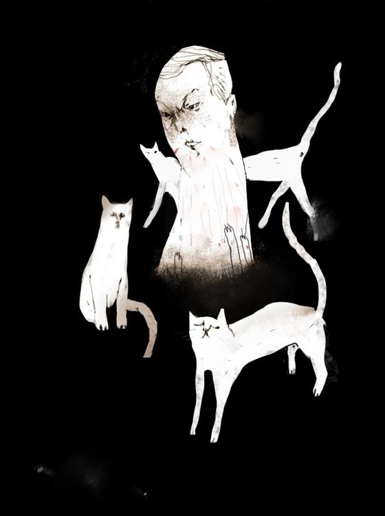 Cat scratcher - cat, scratch, head - ilyashkipin | ello