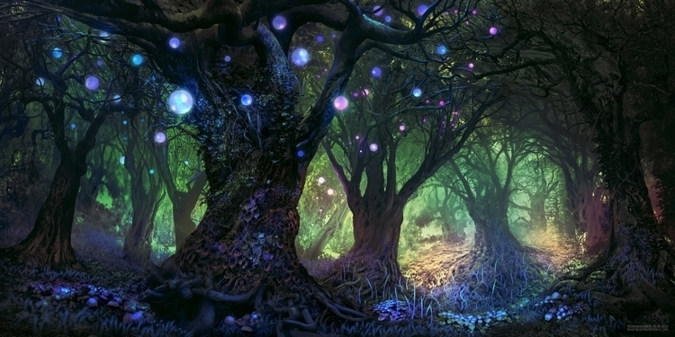 Forest Wisp - landscape, forest - digitalhadz | ello