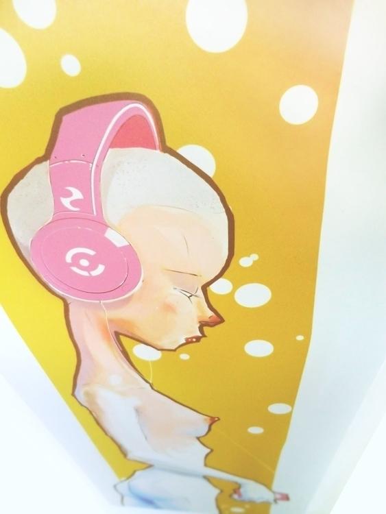 UV print Music Girl - robmar17 | ello