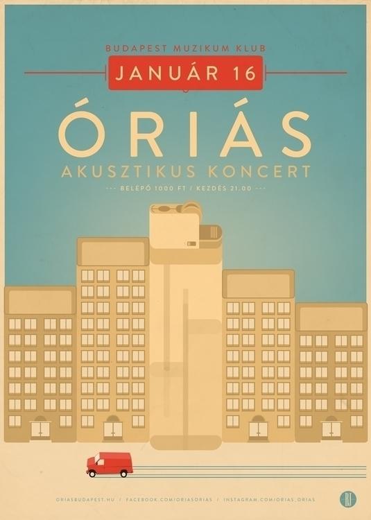 Orias II | gig poster - gigposter - brown-1009 | ello