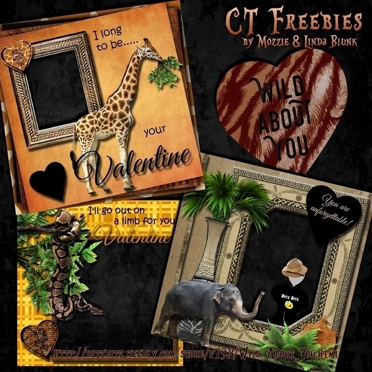 freebie quick pages kit, Wild - digitalscrapbook - ditzbitz | ello