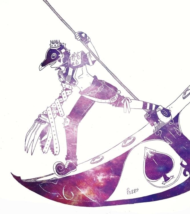Galaxy Slayer - illustration, photomanipulation - rayssamc | ello