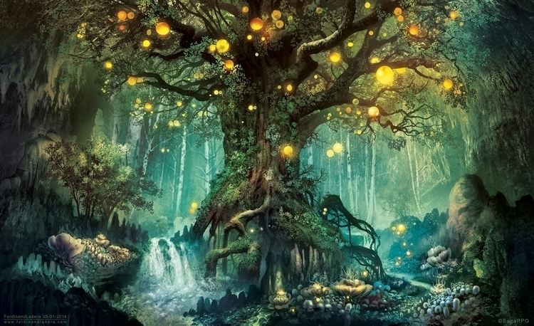 Dimlight Forest, fantasy landsc - digitalhadz | ello