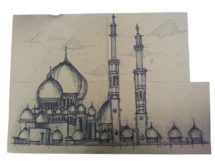 Great Mosque - sketches, sketching - suraiyashahid | ello