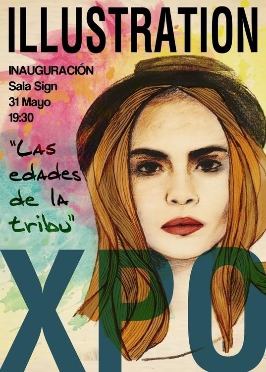 Ilustration exhibition poster - illustration - javi_olalla   ello