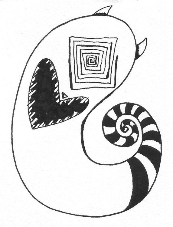 drawing, characterdesign, illustration - alphabetty-1363 | ello