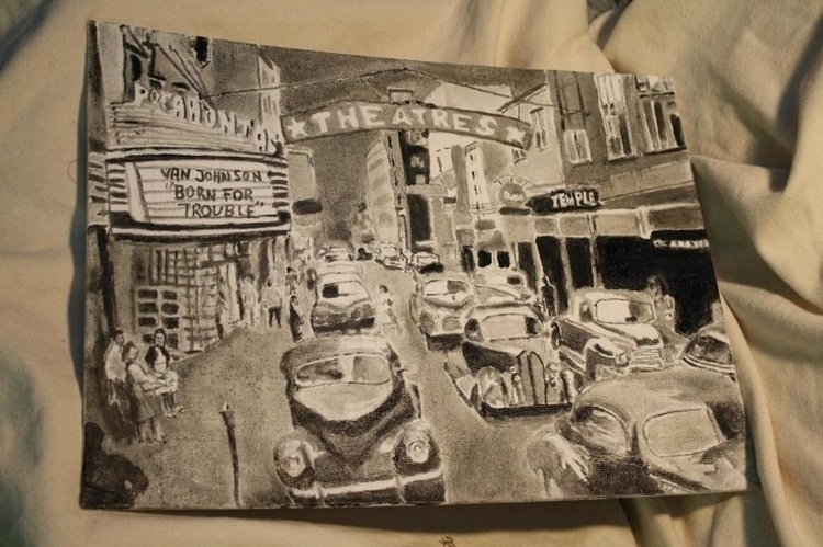 Street Scene 1, oil canvas, 201 - rabbott-8438 | ello
