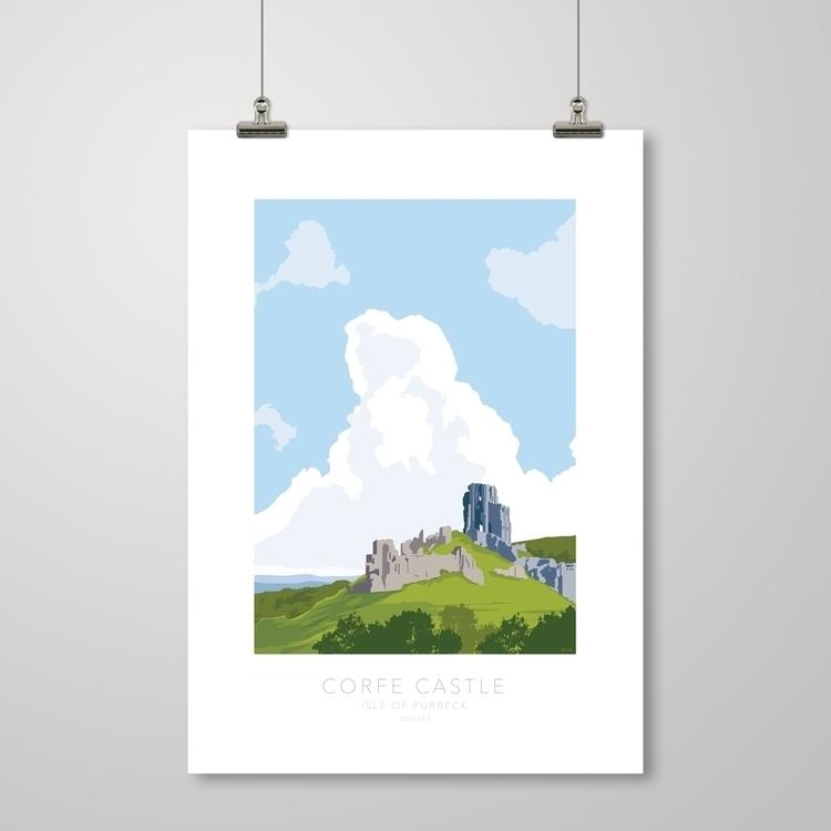 Corfe Castle Prints kwill.co.uk - kwillustrator | ello