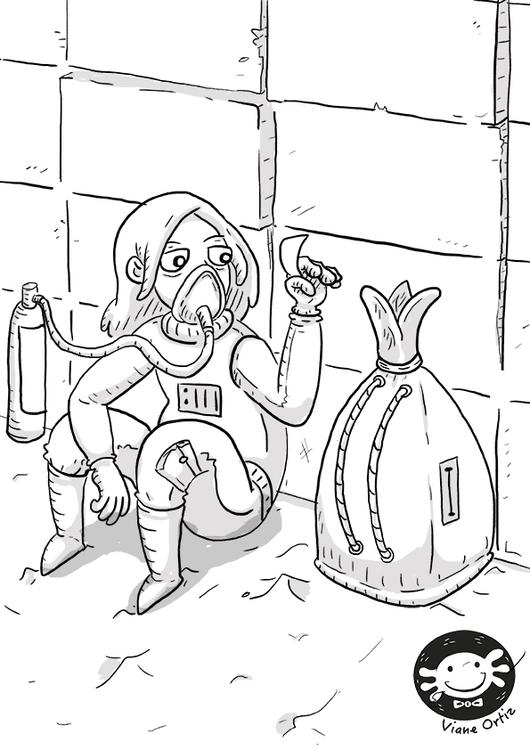 Space nomad girl - illustration - vianeo | ello